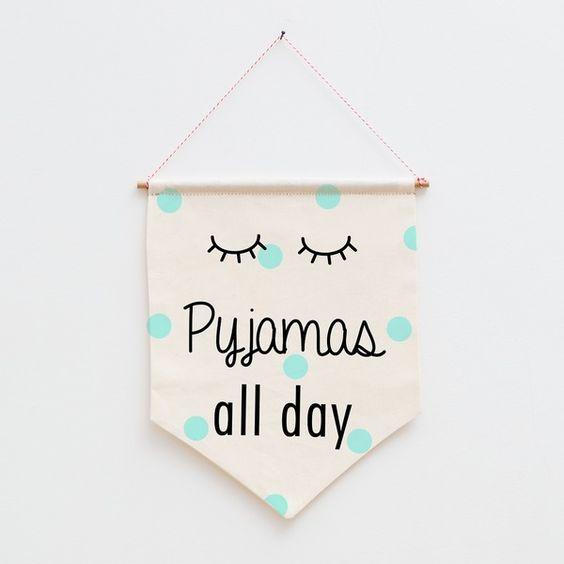 Wimpel  Fahne  pyjamas all day von Eulenschnitt via dawanda.com