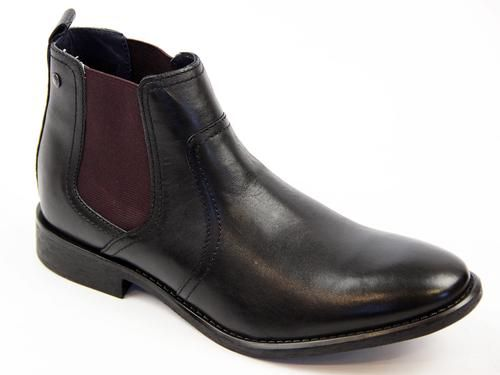 Combust BASE LONDON 60s Mod Classic Chelsea Boots. A cool contrast gusset detail is pitched with a stylish rounded toe and traditional block heel. Available in black: http://www.atomretro.com/product_info.cfm?product_id=13046