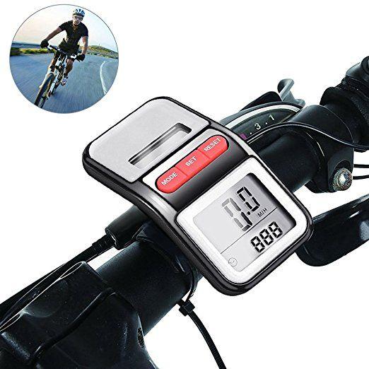 Bicycle Pedometer Odometer Solar Power Speedometer Waterproof Cycle Bike Lcd Display Auto On Off Multifunctionbicyclespeedom Bicycle Speedometer Solar Bicycle