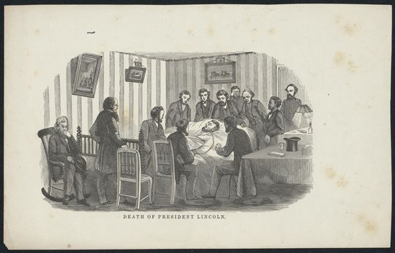 Death of President Lincoln, 1865. People in the room: 12.