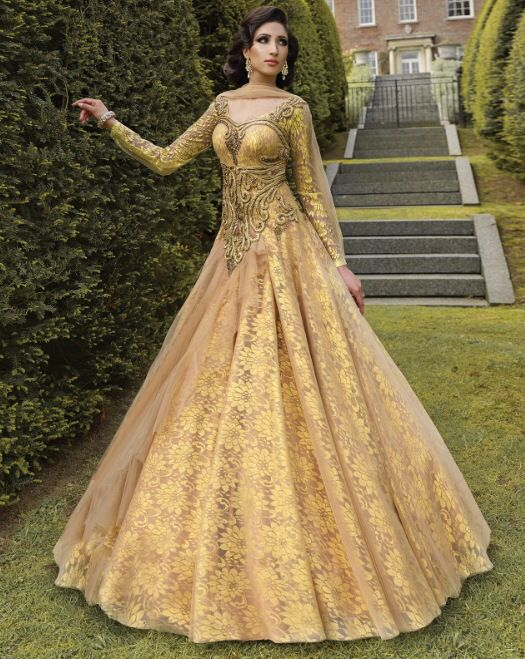 Asian bride asian bridal wear and indian groom on pinterest for Asian bridal wedding dresses