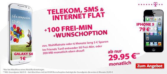 Telekom Complete Comfort S + Wunsch-Flat + Smartphone oder Bundle http://www.simdealz.de/telekom/telekom-complete-comfort-s-wunschoption-smartphone-bundle-13kw32/