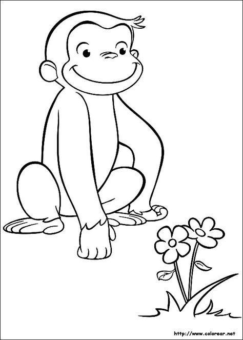 Dibujo De Para Imprimir Jorge El Curioso Paginas Para Colorear De Animales Libro De Colores