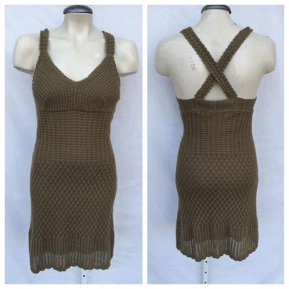 ATHLETA CROCHET STRAIGHT DRESS SZ S 2 4 #ATHLETA #Sheath #Casual