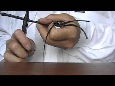 How to make Kangaroo Leather Bracelet Pulsera de Cuero B-282 - YouTube
