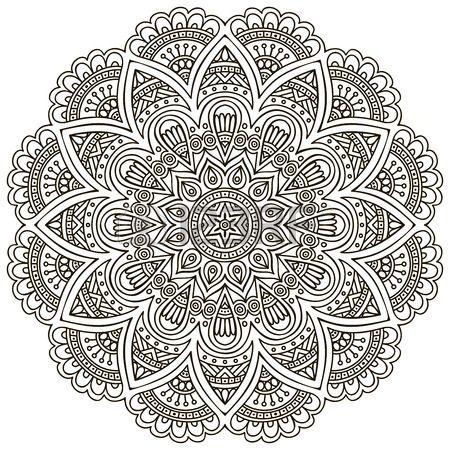 Mandala Round Ornament Pattern Vintage decorative elements