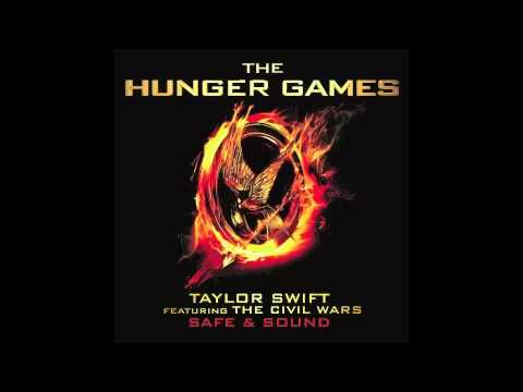 """""""Safe and Sound"""" from The Hunger Games soundtrack...Taylor Swift and the Civil Wars.  Such a beautiful song that makes me even more excited for the movie!"""