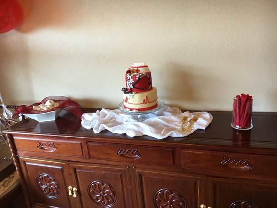 Red and white desserts and treats for nurse graduation party!