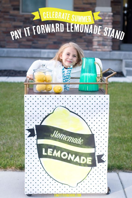 pay it forward lemonade stand such a fun idea and a great