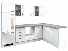 Flex-Well Classic Winkelküche Wito 280 cm ohne E-Geräte Weiß