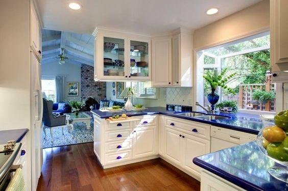 Blue and White Kitchen!! The Kitchen Pinterest Blue and white