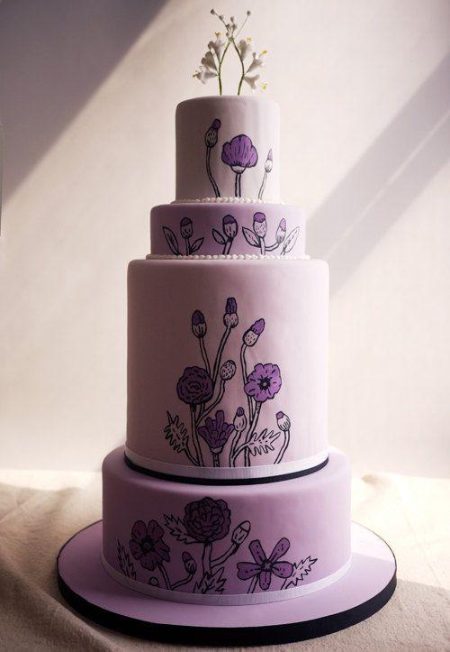 Purple Cake: Wedding Inspiration, Wedding Ideas, Amazing Cakes, Cakes Cupcakes, Cake Inspiration, Charm City Cakes, Purple Cakes, Cake Art, Purple Wedding Cakes