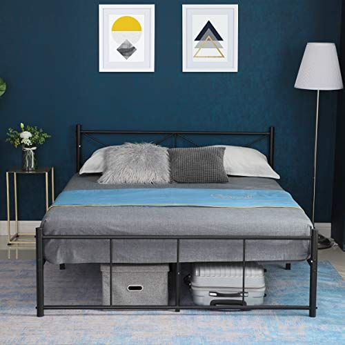 Amazon Com Alecono Bed Frame Full Size Reinforced Metal Platform