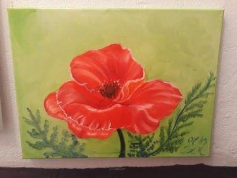 Rote Mohnblume Malen Mit Olfarben Malen Fur Anfanger Und Fortgeschrittene Youtube Malen Mit Olfarben Mohnblume Rote Mohnblumen