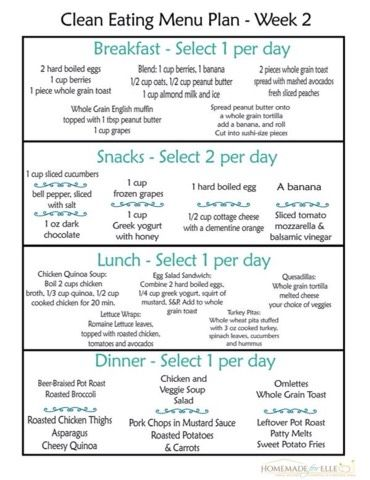 Full 14 Day Flat Belly Healthy Eating Meal Plan Clean Eating Menu Clean Eating Diet Plan Clean Eating Meal Plan