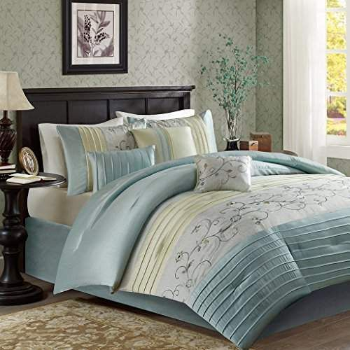Madison Park Serene Comforter Reversible Solid Faux Silk Floral