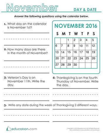 Calendar, 2nd grades and Worksheets on Pinterest