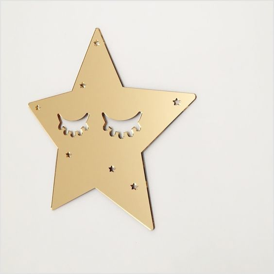 Image of Gold Mirror Acrylic Sleepy Star: