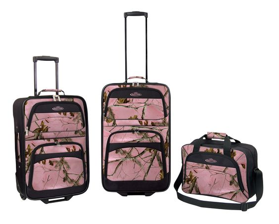 Pink camo, Luggage sets and Camo on Pinterest
