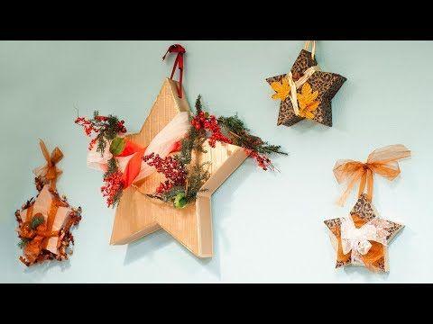 Como Crear Y Decorar Estrellas De Navidad De Carton En 3d Para Colgar En La Pared Estrellas De Navidad Navidad Decoracion Navidad