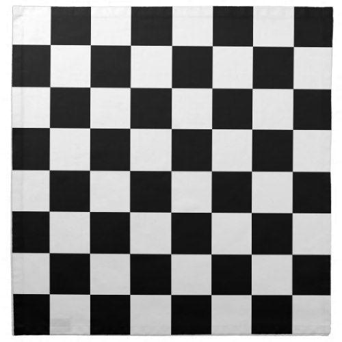 Black And White Checker Cloth Napkin Zazzle Com Cloth Napkin Black And White Custom Napkins