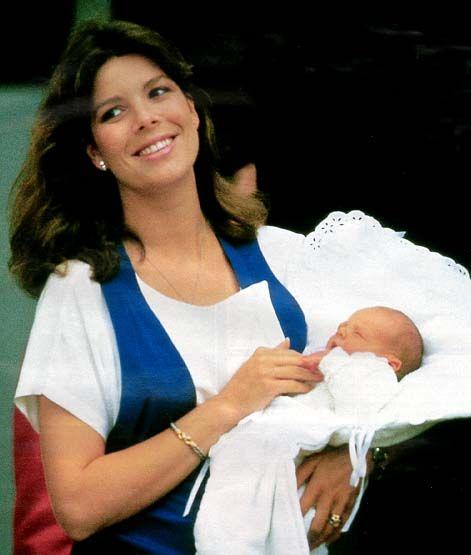 Princess Caroline of Monaco with her son, Andrea Casiraghi