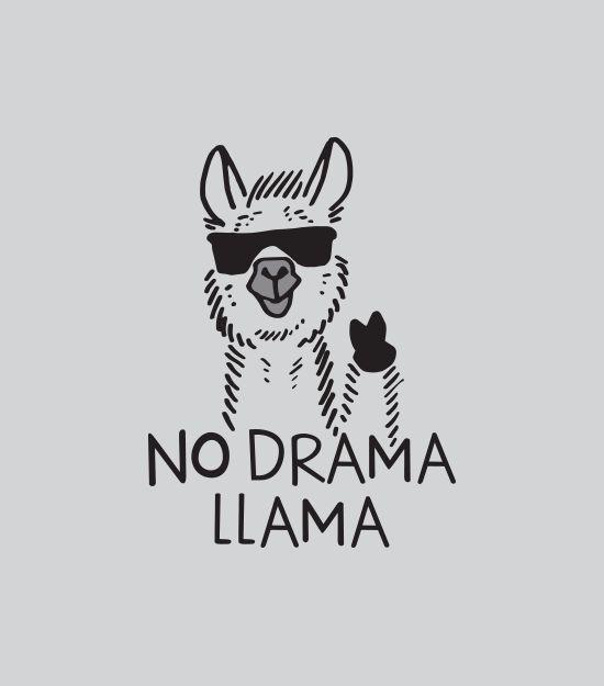 """No Drama Llama"" t-shirt.  Graphic tees for men, women and kids:"