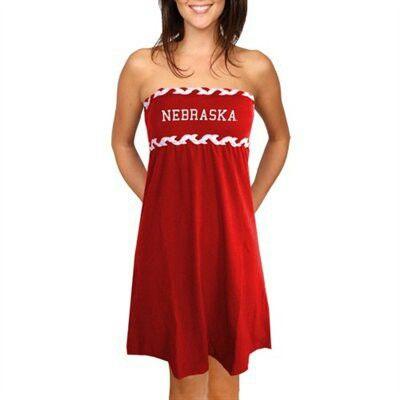 http://www.ladyfanatics.com/COLLEGE_Nebraska_Cornhuskers_Ladies/Nebraska_Cornhuskers_Ladies_Scarlet_Braided_Dream_Tube_Dress