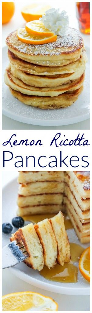 Super soft and fluffy Lemon Ricotta Pancakes made from scratch! Bonus: This recipe is freezer friendly.