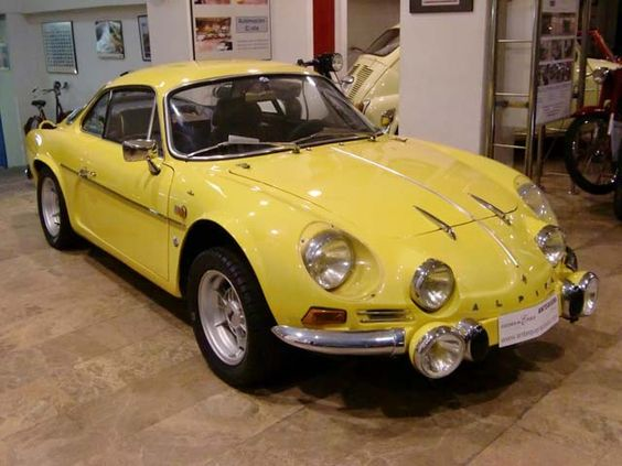 Renault Alpine A110 - yellow car