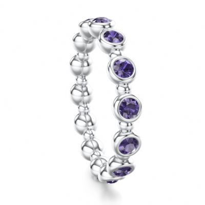 Iolite and White Gold a little more drama