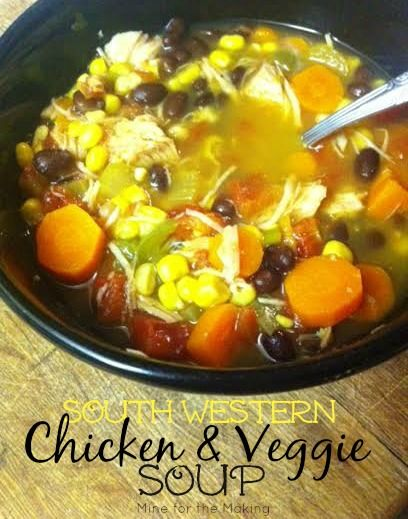 South Western Chicken and Veggie Soup