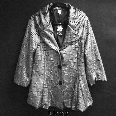 $125 or offer...this is the COOLEST jacket!!!  OMG, the fabric and design are amazing!  Damee, Inc. metallic silver jacket, new with tags, size M