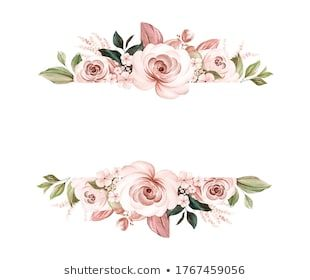 Stock Photo And Image Portfolio By Keepmakingart Shutterstock Floralframe Watercolor Wedding Flowers Brown Wre In 2020 Watercolor Rose Composition Design Floral