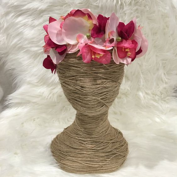 SALE** Orchid Flower Crown  // Floral Headband // Flower Crown // Racewear // Flower Girl // Hair Flowers // Bridesmaid by FauxFloralCo on Etsy https://www.etsy.com/au/listing/453588212/sale-orchid-flower-crown-floral-headband