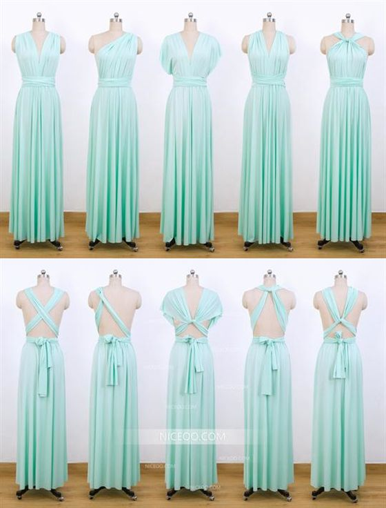 Mint Green Multiway Bridesmaid Dresses Convertible Dresses Infinity Dresses Multiway Bridesmaid Dress Infinity Dress Bridesmaid Infinity Dress