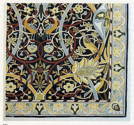 William Morris Rugs Reproductions: Carpets, Textiles And Blog On Pinterest