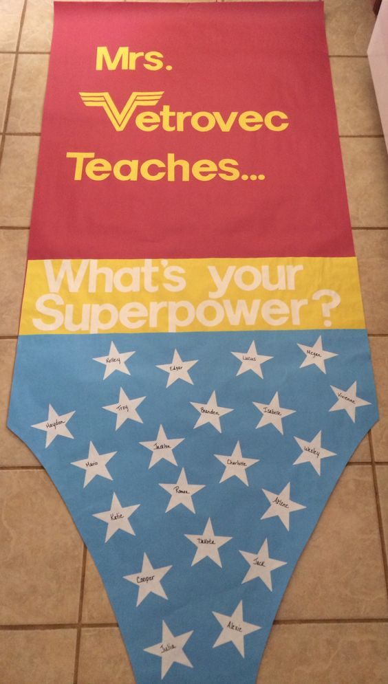 Teacher Appreciation Door Decoration Superhero Theme