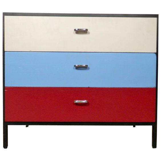 Unusual Mid-Century Dresser By George Nelson   See more antique and modern Commodes and Chests of Drawers at https://www.1stdibs.com/furniture/storage-case-pieces/commodes-chests-of-drawers