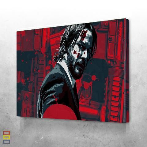 John Wick Movie Wall Art Movie Canvas Painting Wall Art Canvas Painting