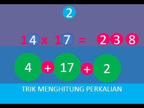 Cara Cepat Menghitung Perkalian Matematika Belajar Perkalian
