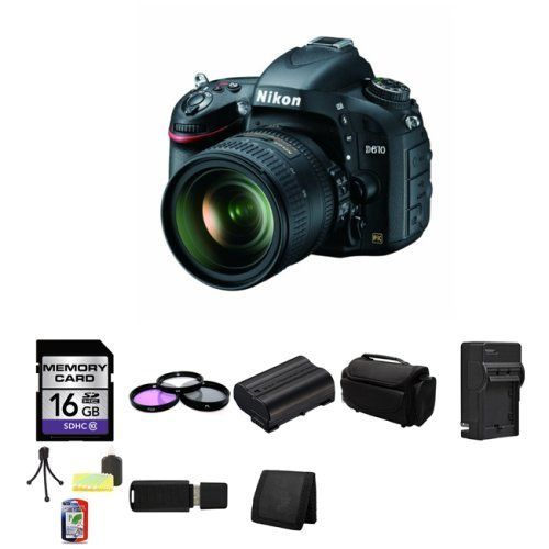 Full Frame Nikon D610 24 3 Mp Camera With 24 85mm Lens International Version Bundle With Accessories 9 Items 24 3 Megapixel Fx Nikon Camera Photography Gear