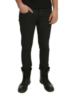 Lip Service Black And Ivory Stripe Needle Fit Jeans