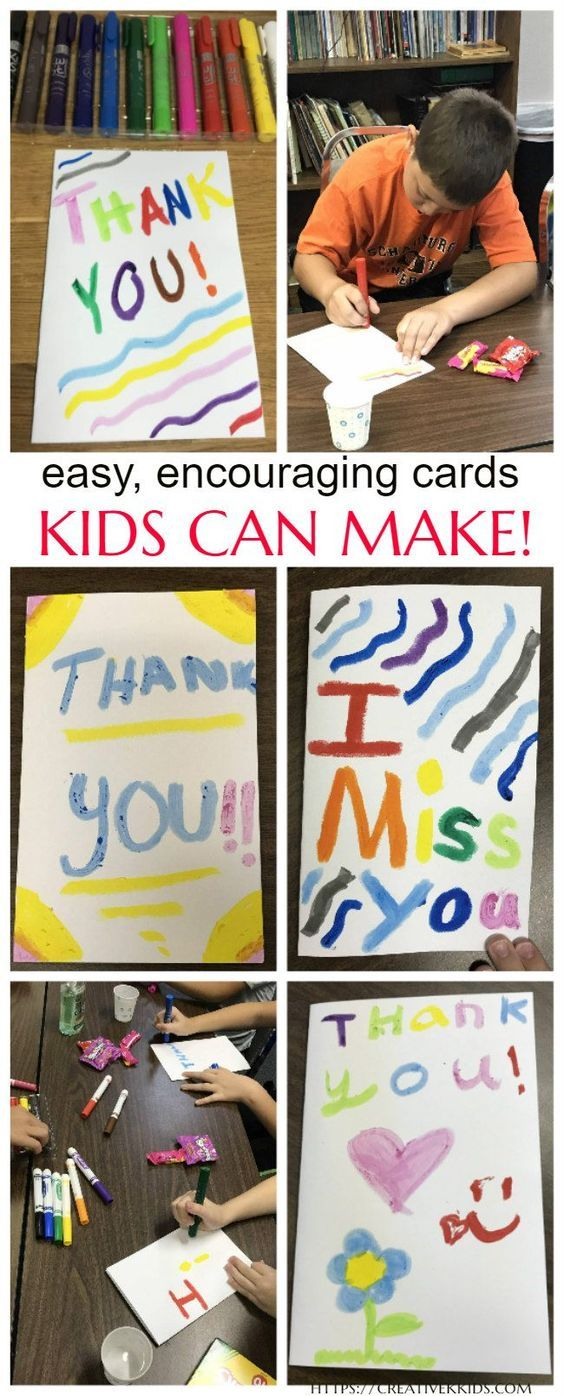 Thoughtful Thursdays Easy Encouraging Cards Kids Can Make With