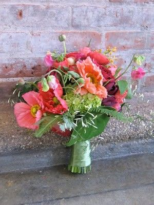 poppies and garden roses