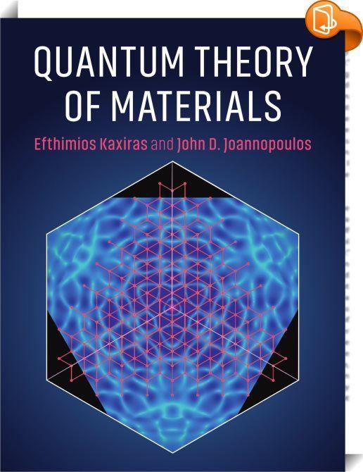 Quantentheorie Der Materialien Dieser Barrierefreie Neue Text Führt In Die Theorie Physics B Physical Chemistry Material Science Science Programs