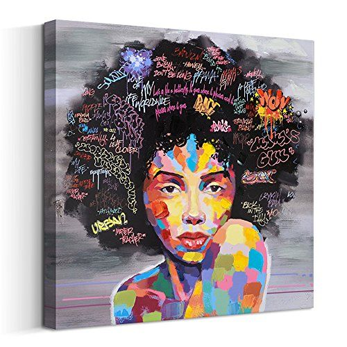 Living Room Wall Paintings Free Cloud Crescent Art Abstract Pop Black Art African American W African American Wall Art Street Wall Art Oil Painting On Canvas