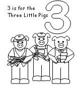 david wiesner coloring pages | Three Pigs Bingo Marker Pages | Fairytales - The Three ...