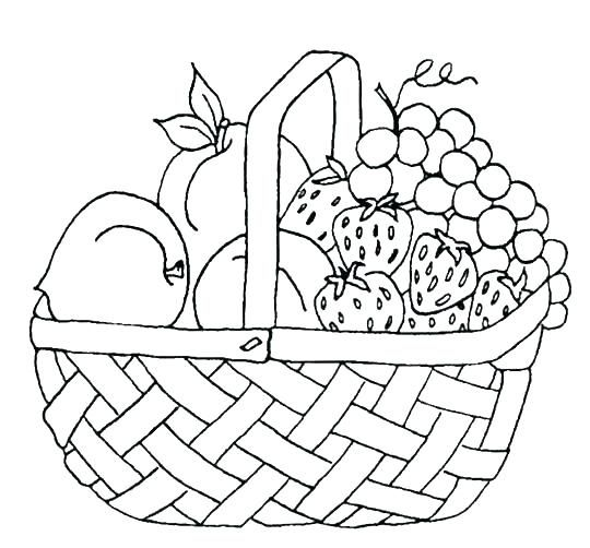 Free Printable Fruit Coloring Pages For Kids Basket Drawing Fruit Coloring Pages Coloring Pages To Print