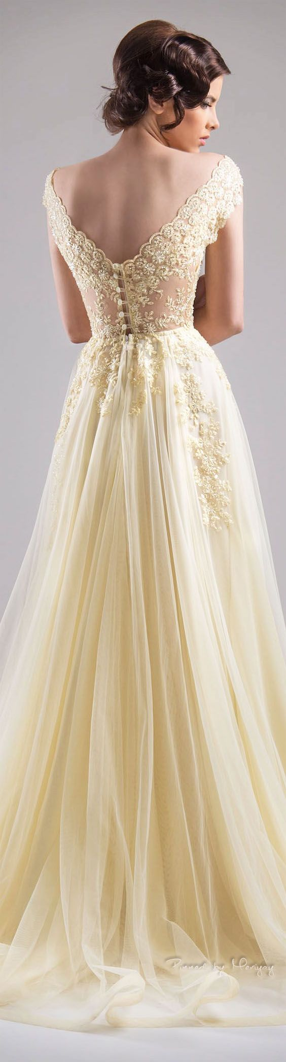 Pale Yellow Wedding Dresses 105